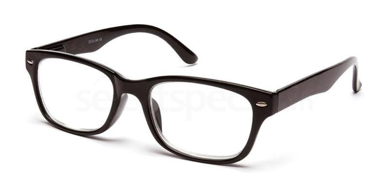 +3.00 Power Readers R11A - A: Black Accessories, Univo Readers