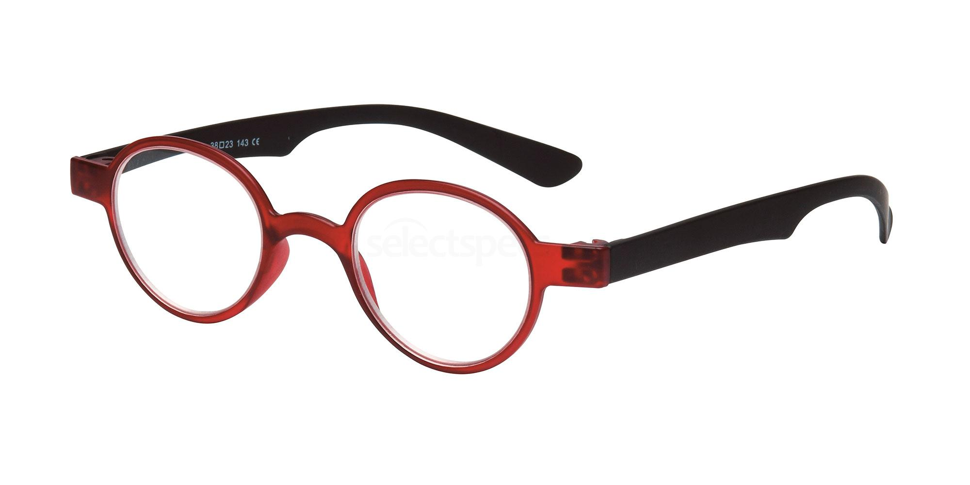 +3.00 Power Readers R17A - A: Red/Black Accessories, Univo Readers