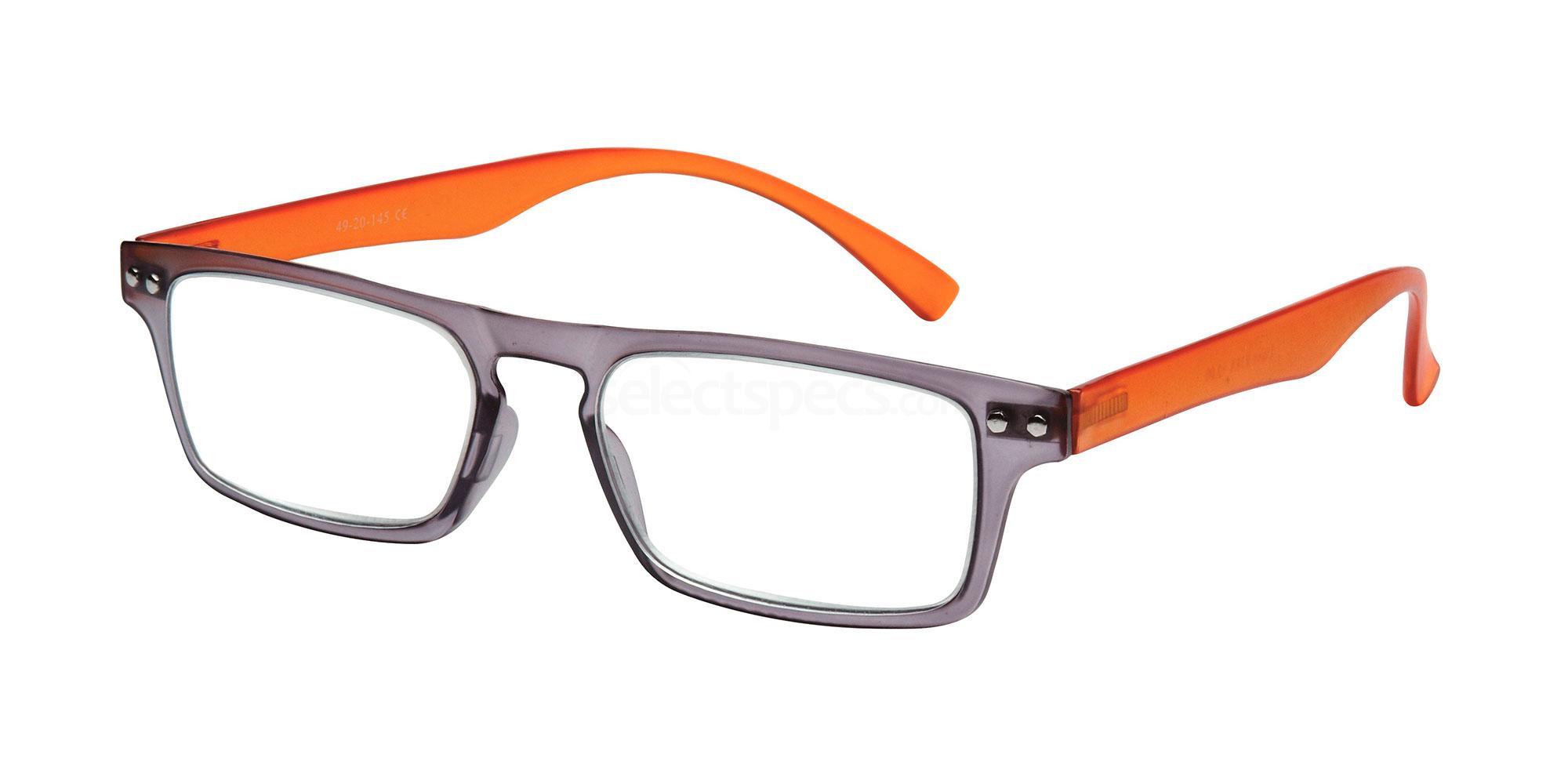 +1.50 Power Readers R18A - A: Grey/Orange Accessories, Univo Readers