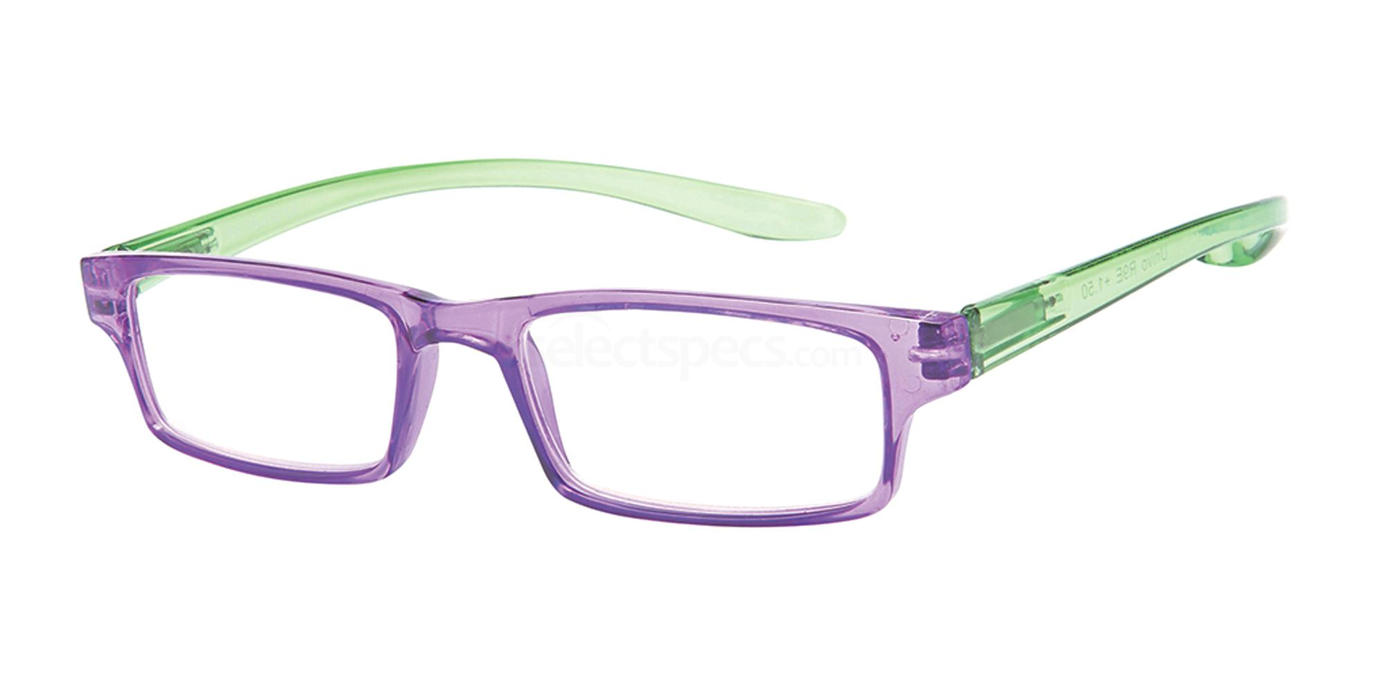 +1.00 Power Reading R9 - E: Purple / Green Accessories, Univo Readers