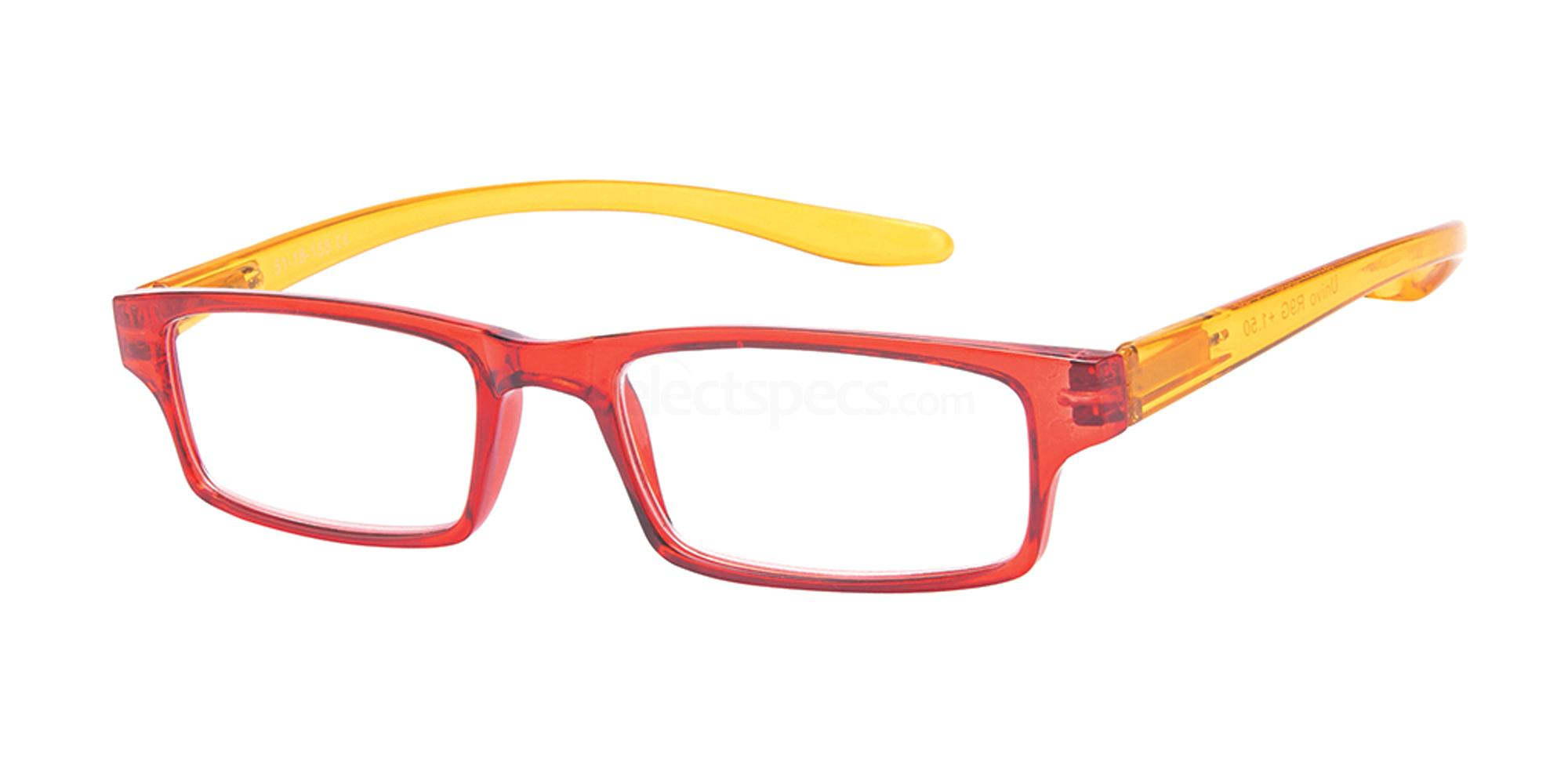 +1.00 Power Reading R9 - G: Red / Yellow Accessories, Univo Readers