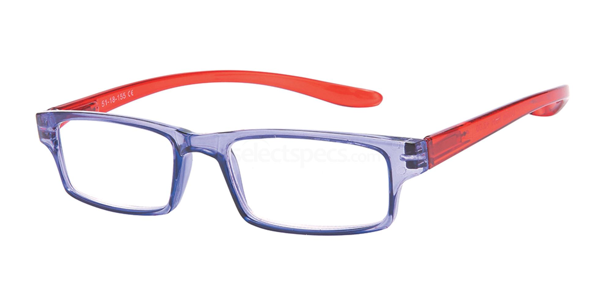 +1.00 Power Reading R9 - H: Lilac / Red Accessories, Univo Readers