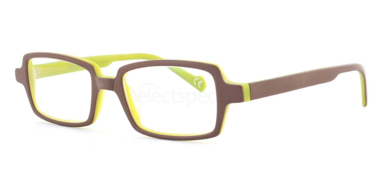 Brown and Green Karen Glasses, Antares