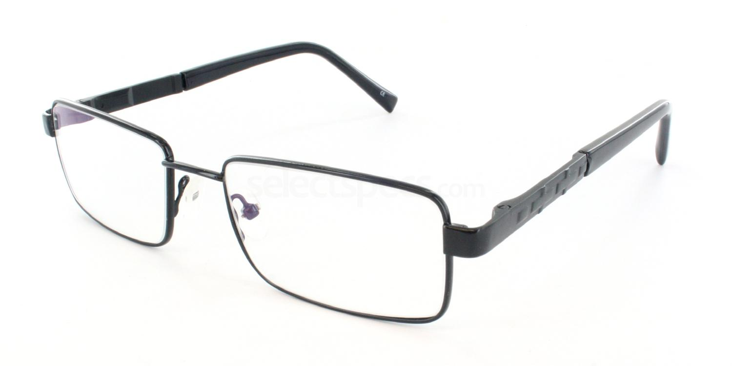 Black 1232 Glasses, Antares