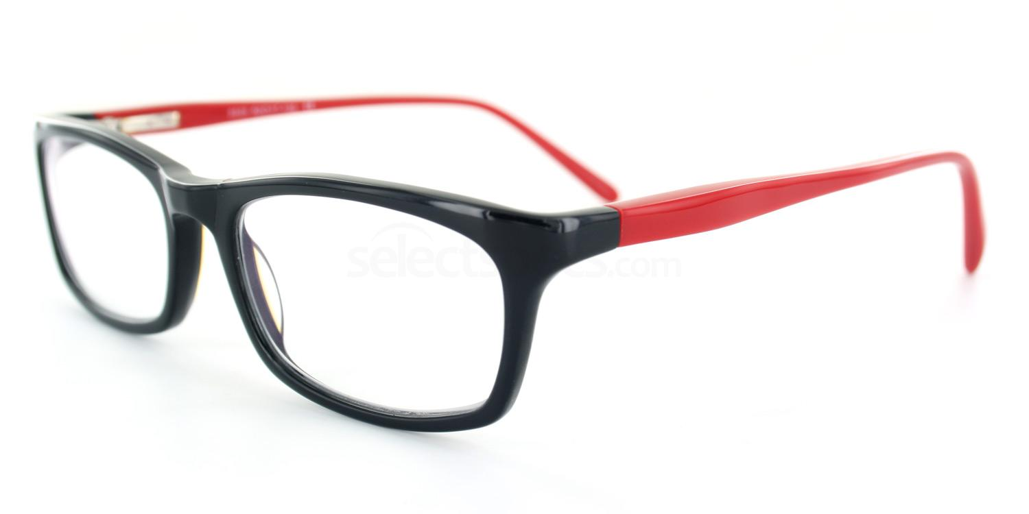 Black and Red 5505 - Small Fit Glasses, Infinity