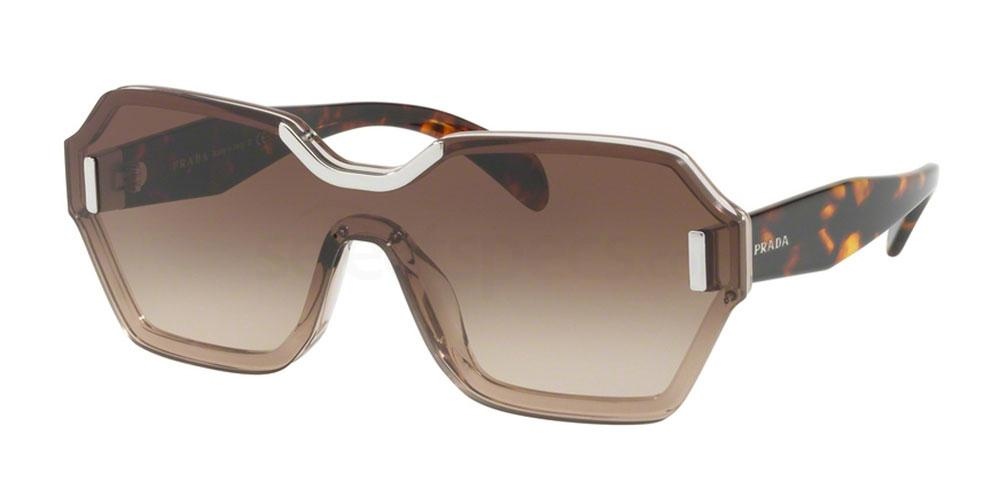 retro one lens sunglasses prada