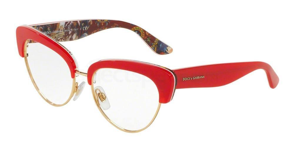 D&G red cat-eye glasses, Miu Miu insp.