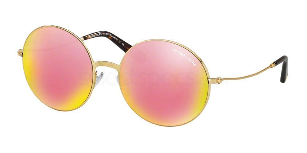 gold mirror sunglasses Michael Kors