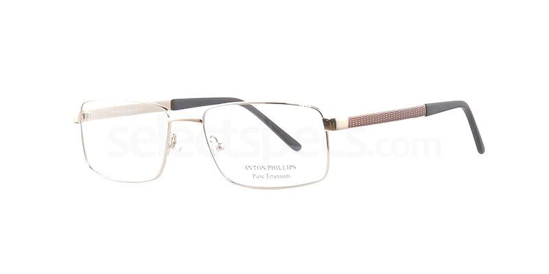 Gold/Brown AP1030 Glasses, Anton Phillips