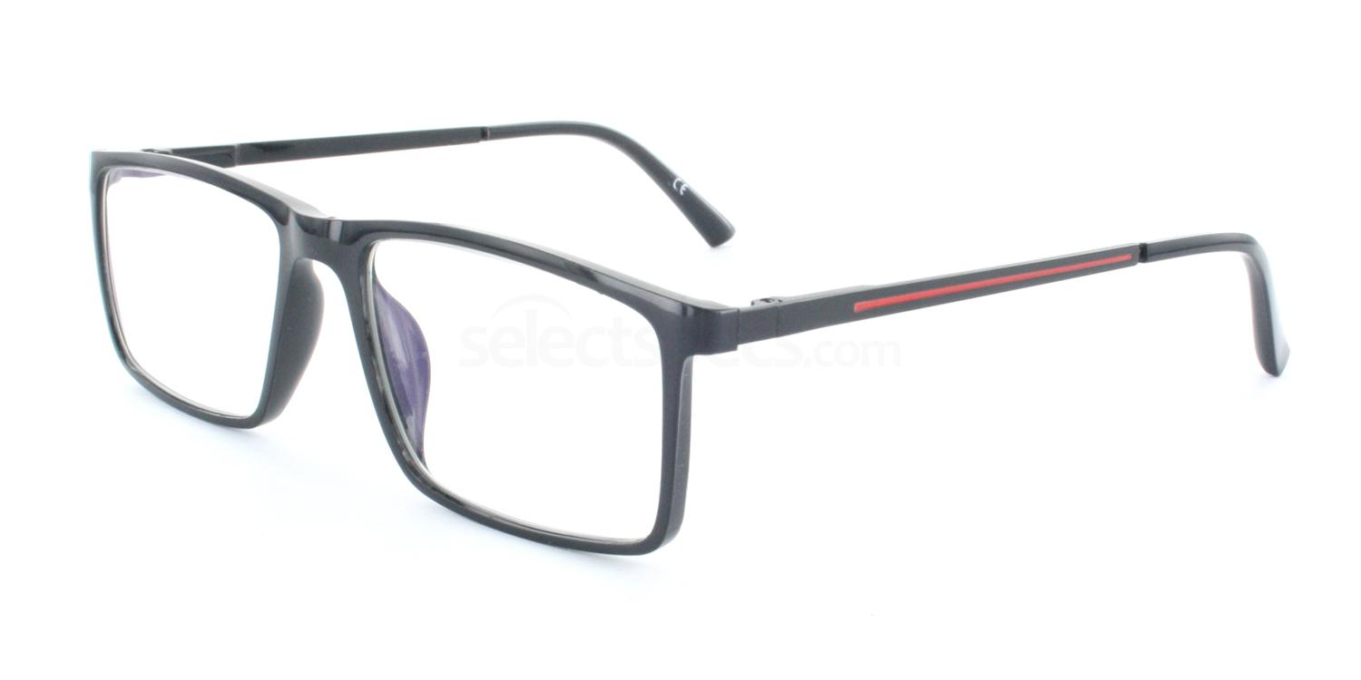 Black 6718 Glasses, Antares