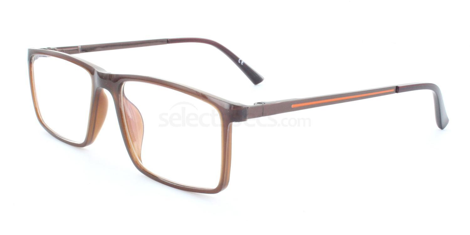 Brown 6718 Glasses, Antares