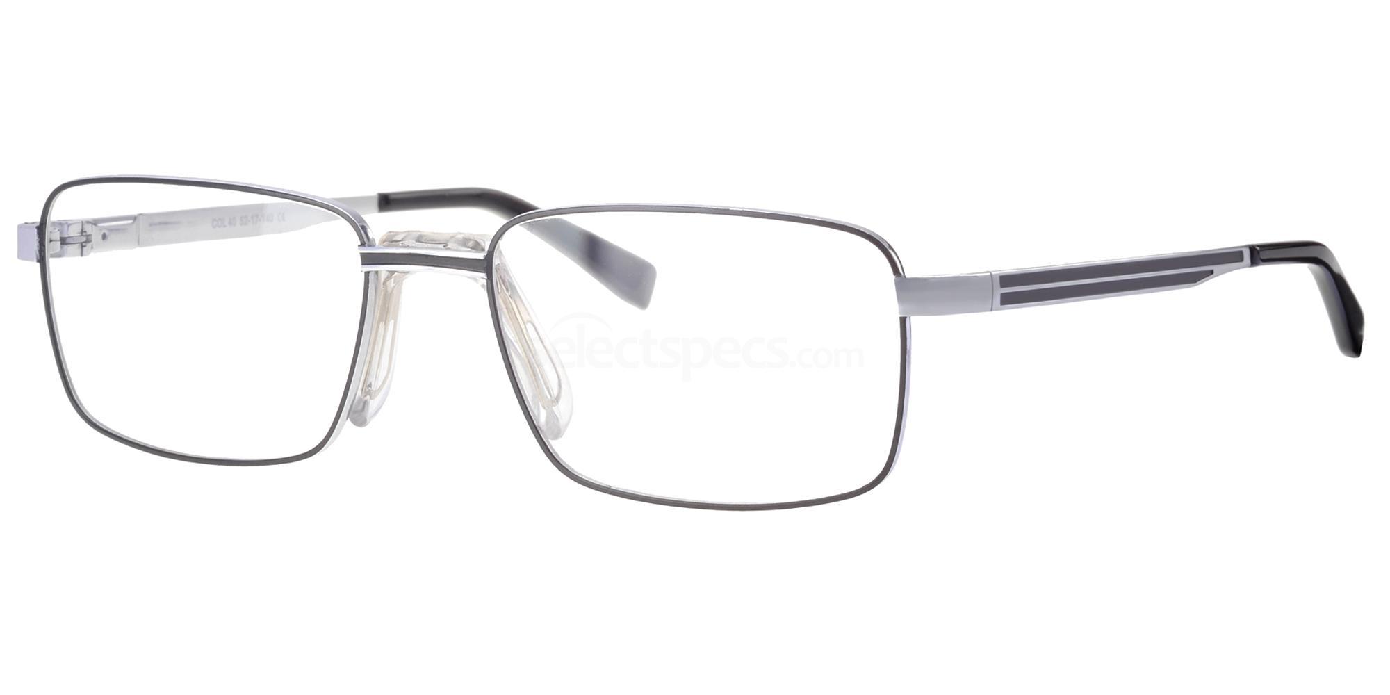 C40 726 Glasses, Ferucci Titanium