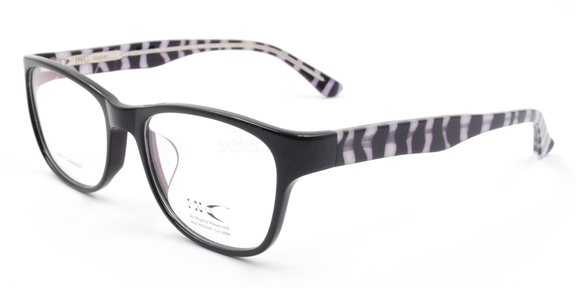 20BK INC 6000 Glasses, INC Vision