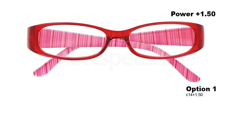 C14+1.50 Power PRII048C14 Reading Glasses-Red Accessories, Proximo