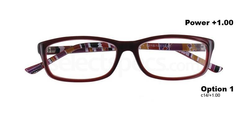 C14+1.00 Power PRII055C14 Reading Glasses-Red Accessories, Proximo
