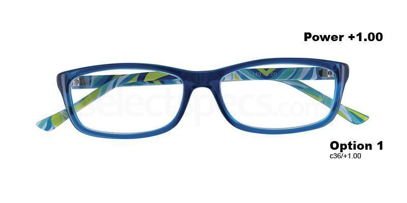 C36+1.00 Power PRII055C36 Reading Glasses-Turquoise Accessories, Proximo