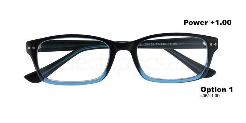 C06+1.00 Power PRII056C06 Reading Glasses-Blue Accessories, Proximo