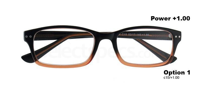 C15+1.00 Power PRII056C15 Reading Glasses-Orange Accessories, Proximo