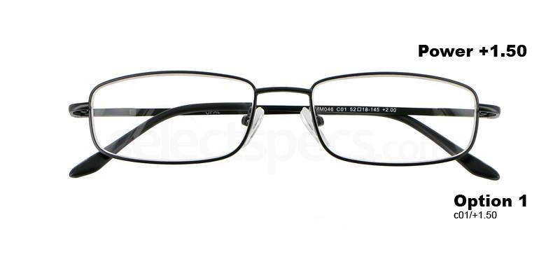 C01+1.50 Power PRMM046C01 Reading Glasses-Black Accessories, Proximo