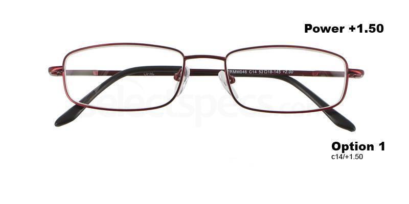 C14+1.50 Power PRMM046C14 Reading Glasses-Red Accessories, Proximo