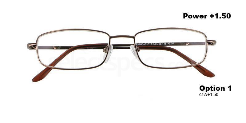 C17+1.50 Power PRMM046C17 Reading Glasses-Dark Brown Accessories, Proximo