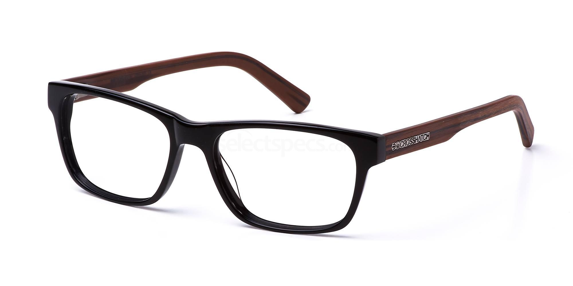 C1 CRH101 Glasses, Crosshatch