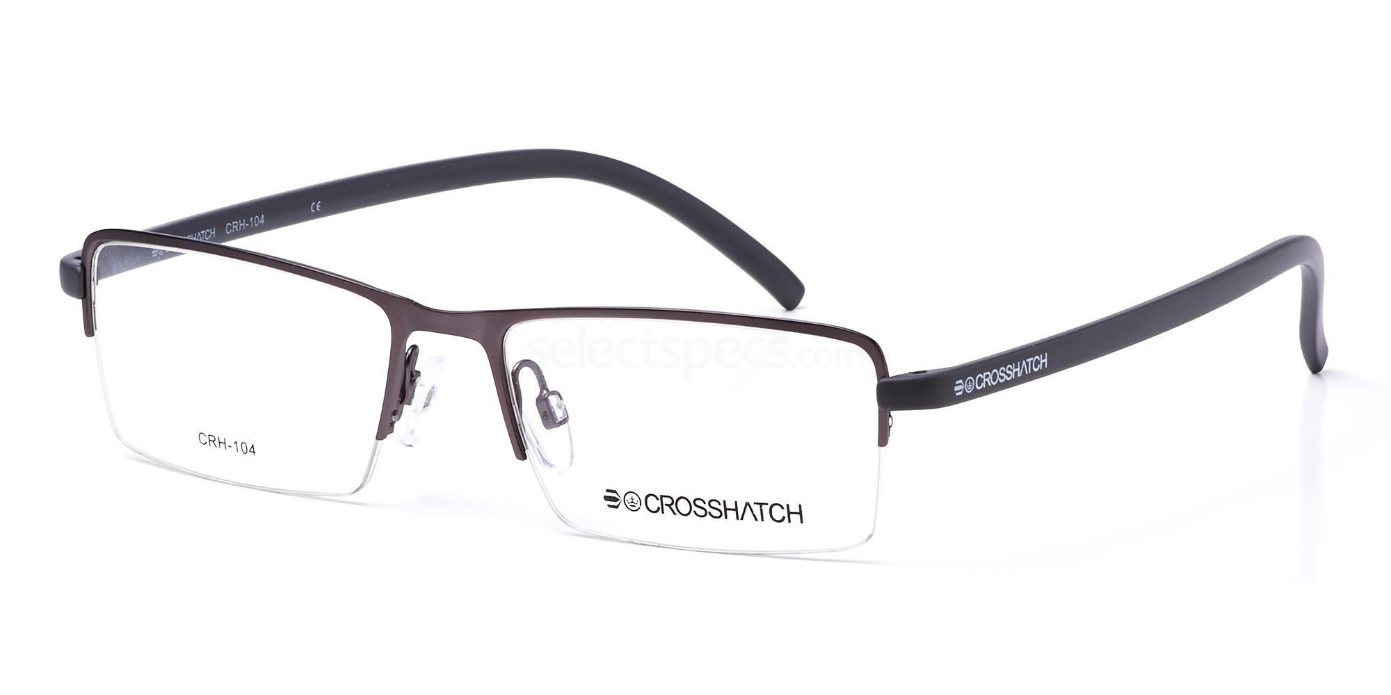 C2 CRH104 Glasses, Crosshatch