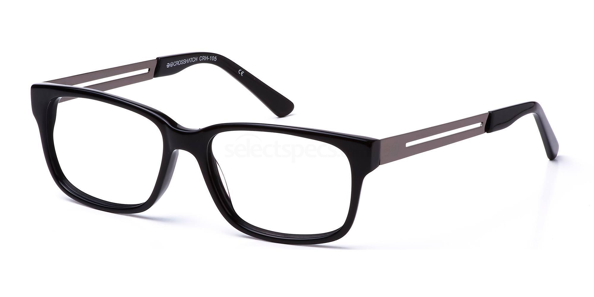 C1 CRH105 Glasses, Crosshatch