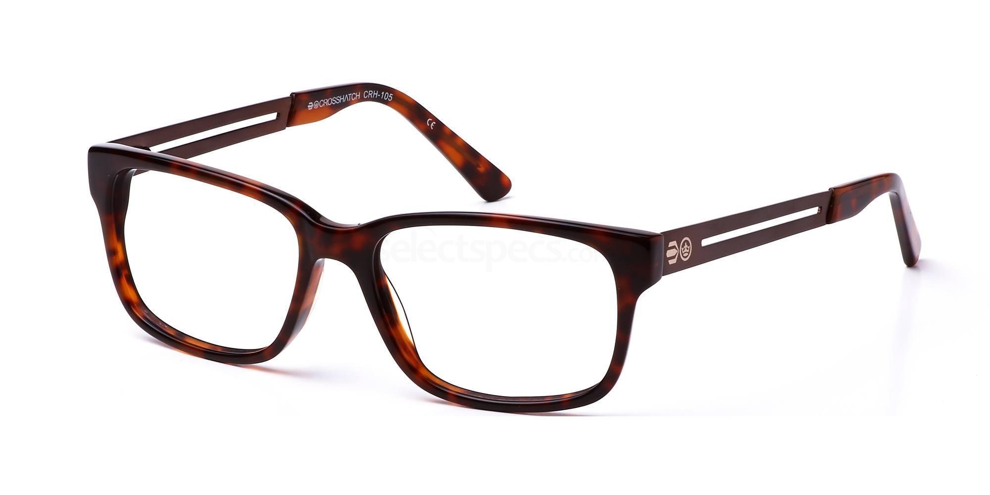 C2 CRH105 Glasses, Crosshatch
