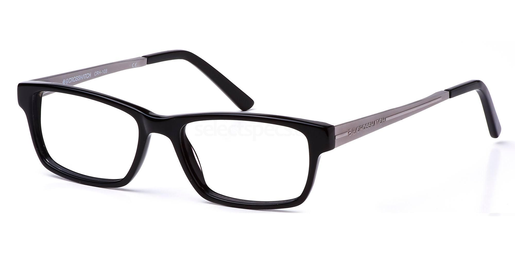 C1 CRH108 Glasses, Crosshatch
