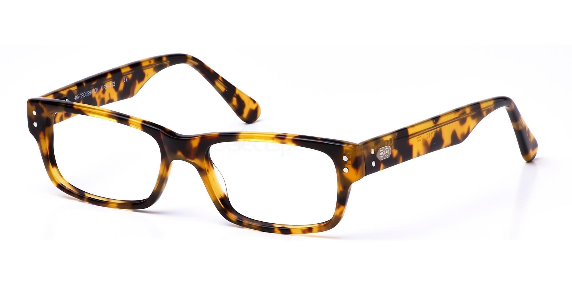 C2 CRH112 Glasses, Crosshatch