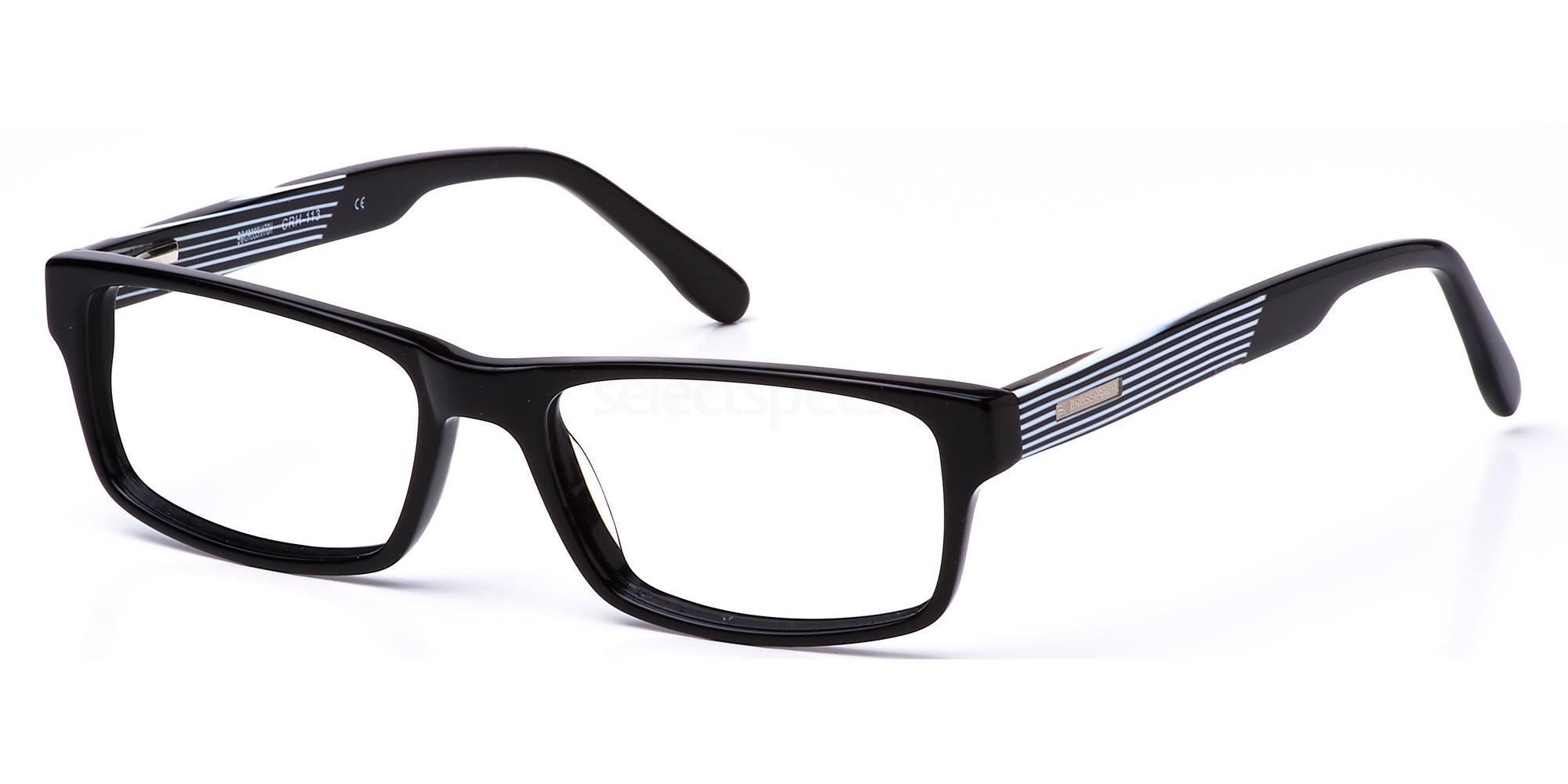 C1 CRH113 Glasses, Crosshatch