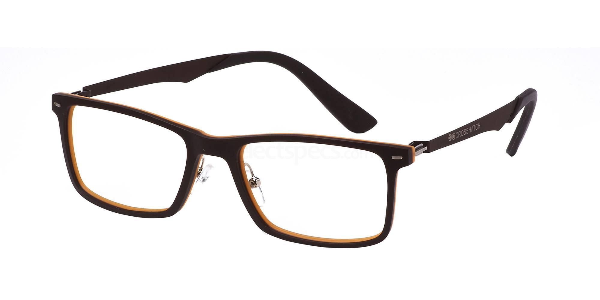 C1 CRH115 Glasses, Crosshatch