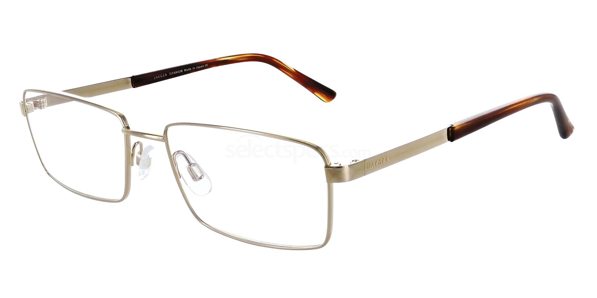 Gold 309 Glasses, Jaeger Pure Titanium