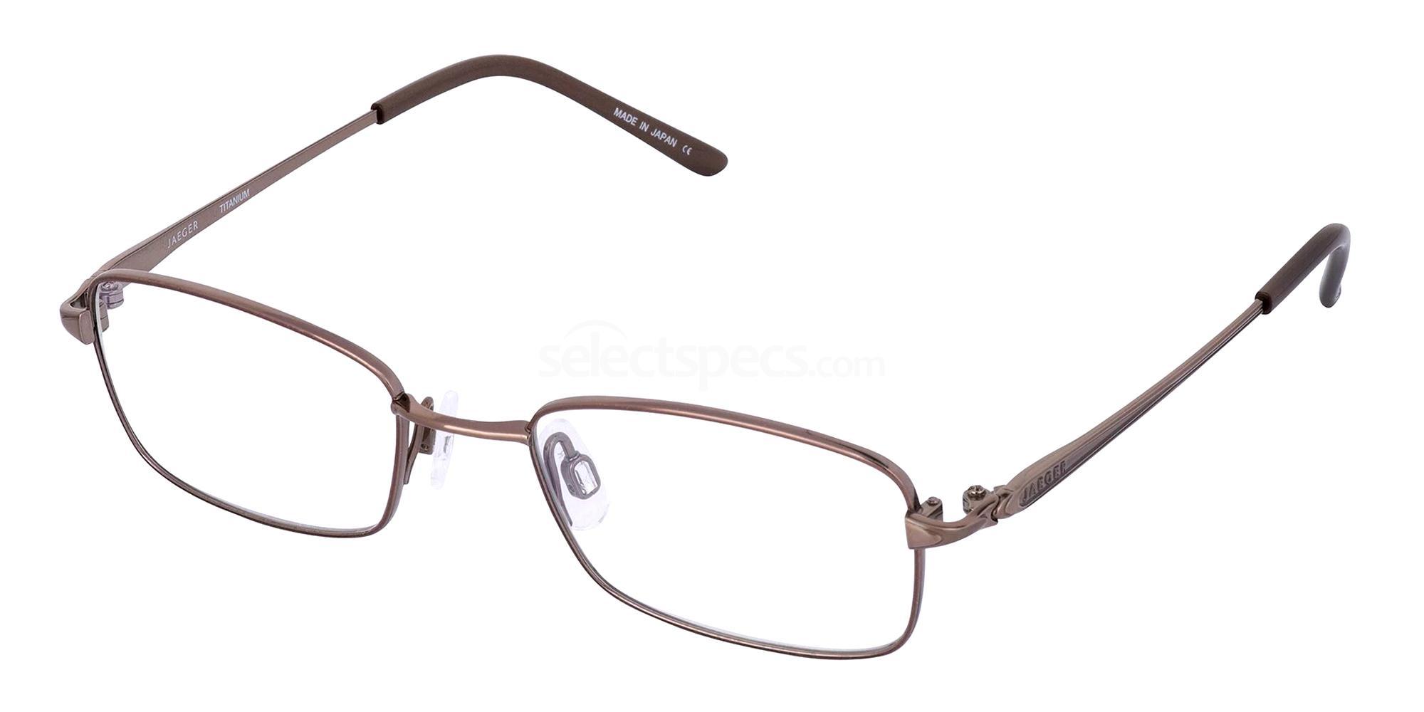 Brown 311 Glasses, Jaeger Pure Titanium