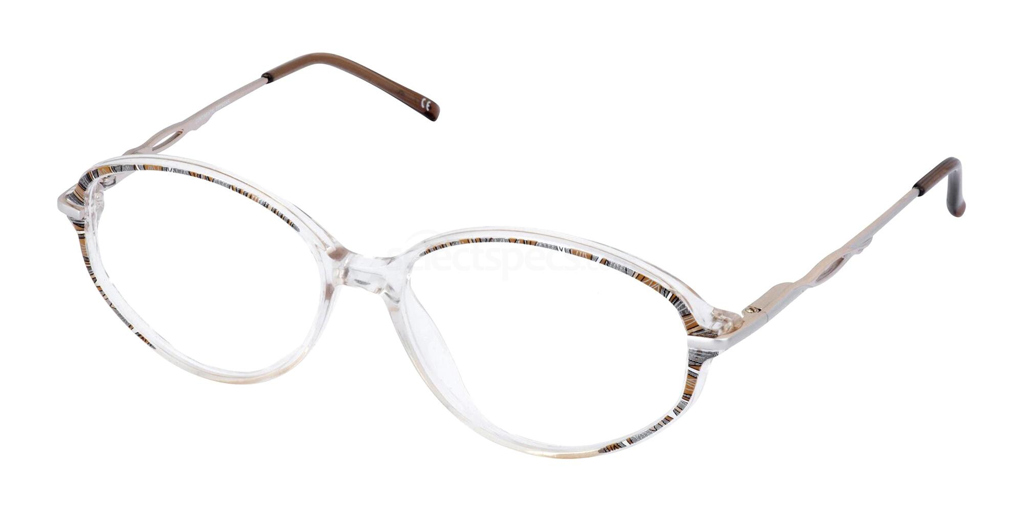 Brown and Crystal CHARLOTTE Glasses, Cameo