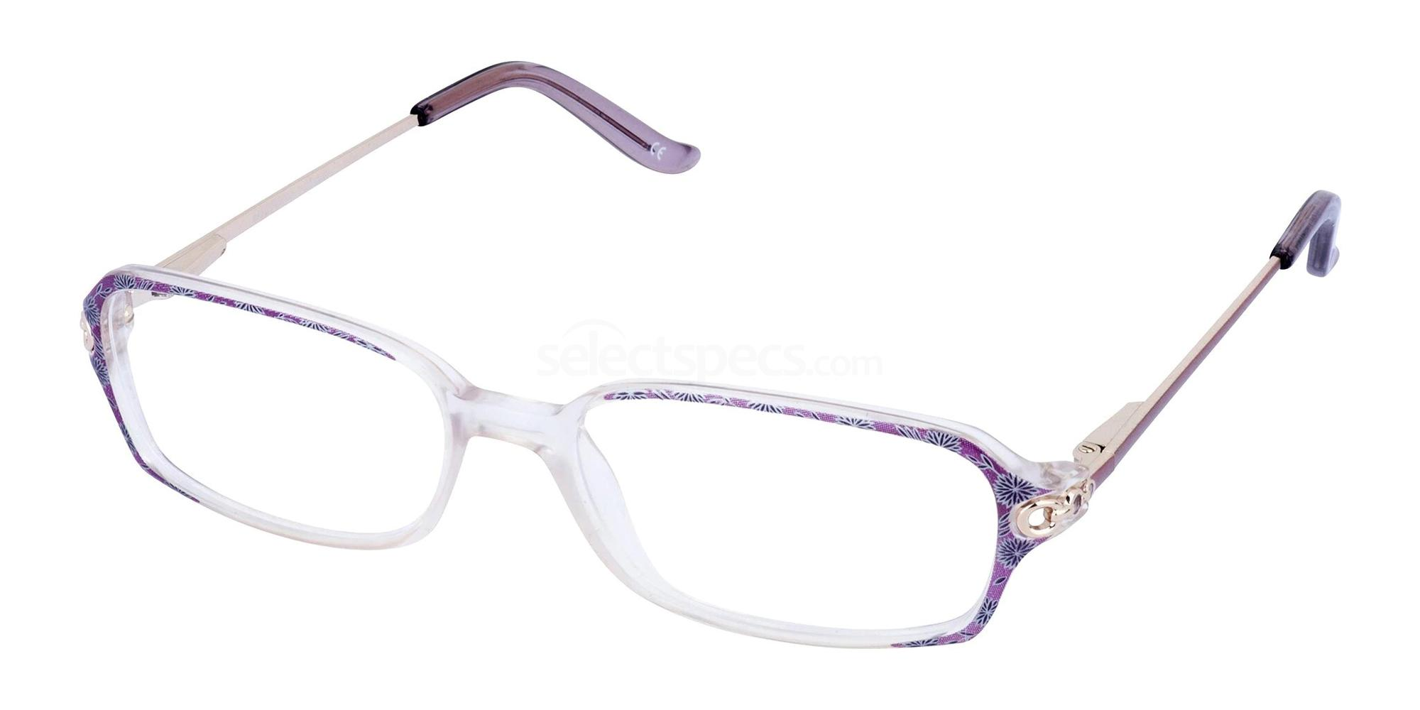 Mauve and Crystal RUTH Glasses, Cameo
