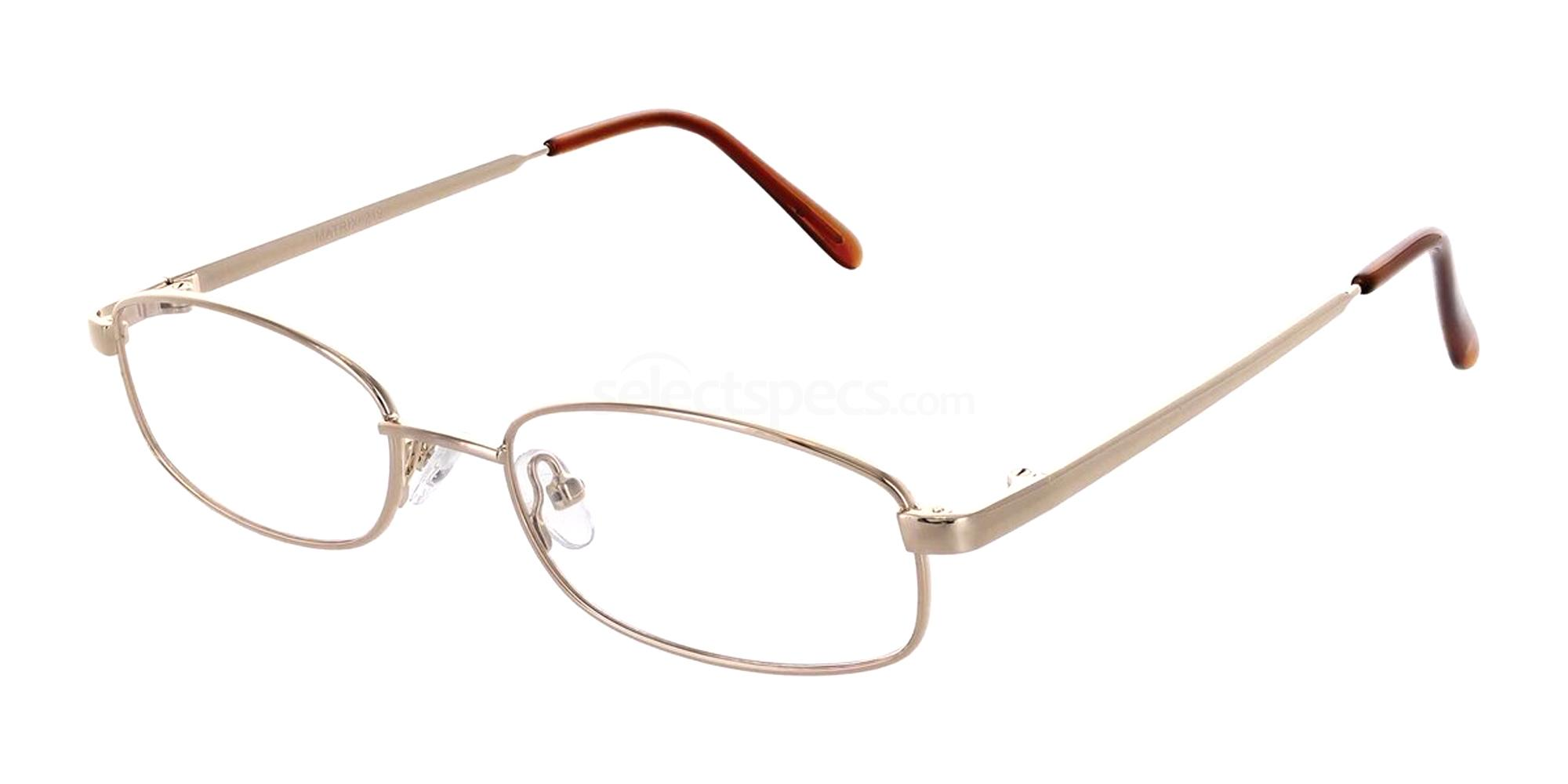 Gold 219 Glasses, Matrix