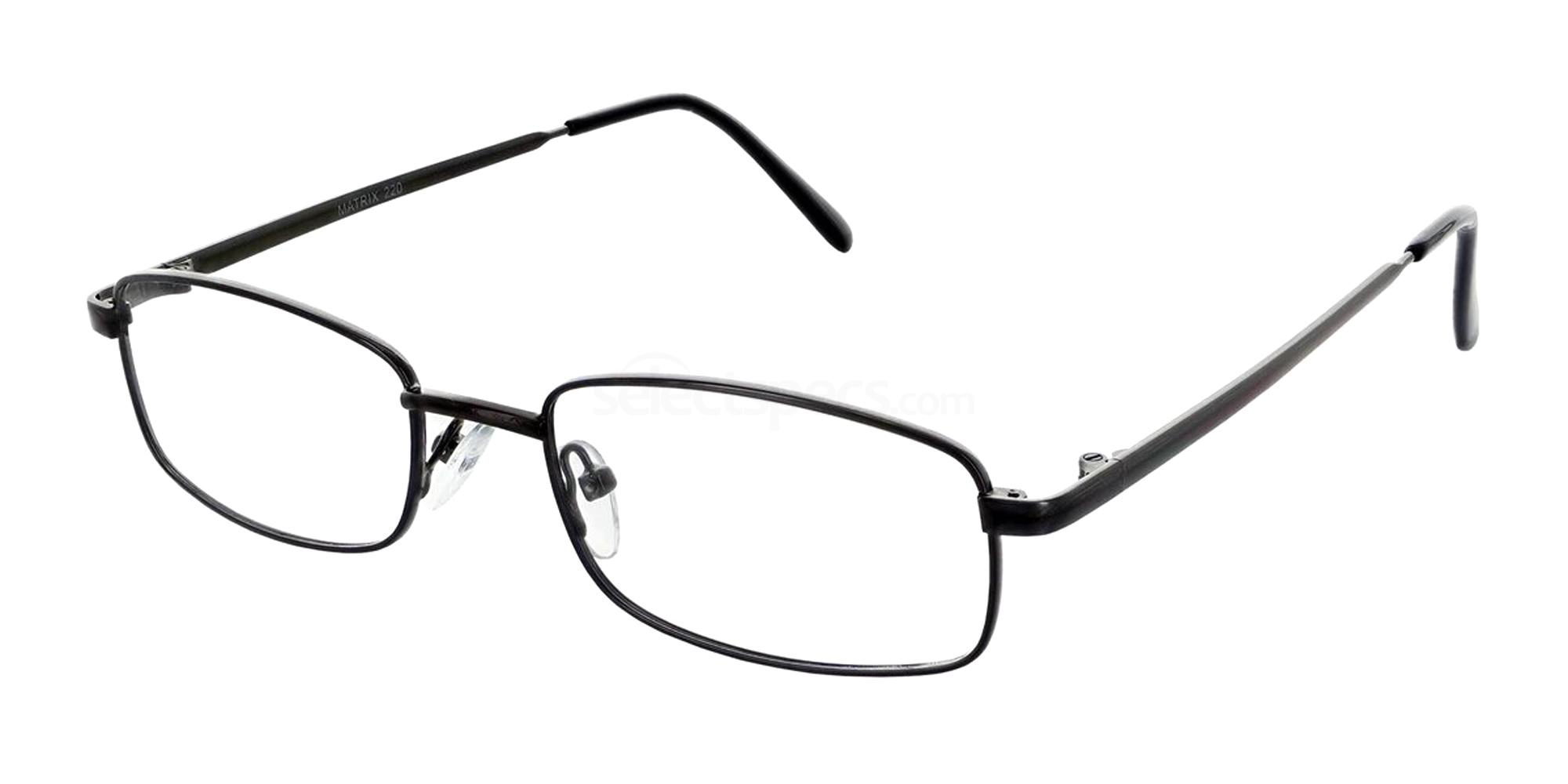 Gunmetal 220 Glasses, Matrix