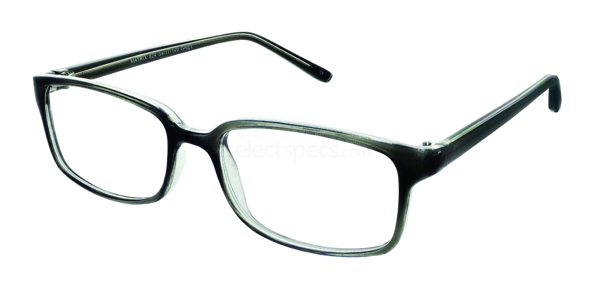 Grey 824 Glasses, Matrix