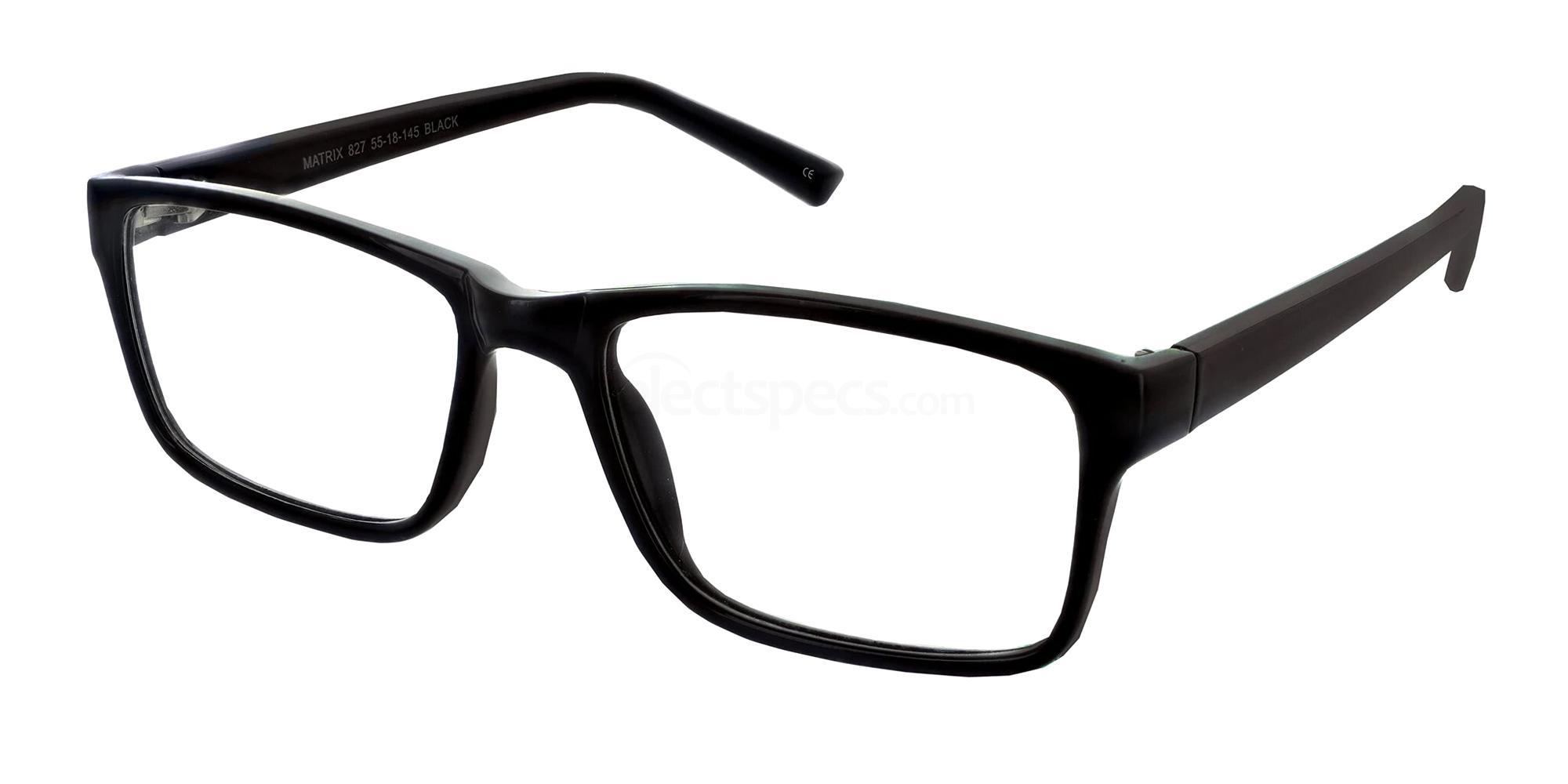 Black 827 Glasses, Matrix
