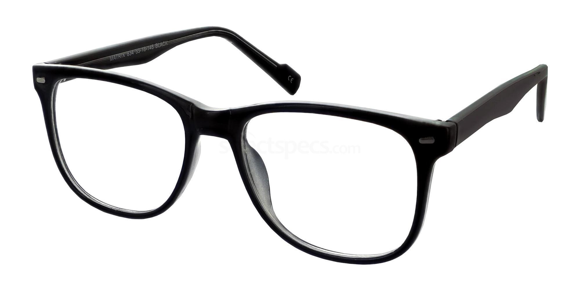 Black 834 Glasses, Matrix