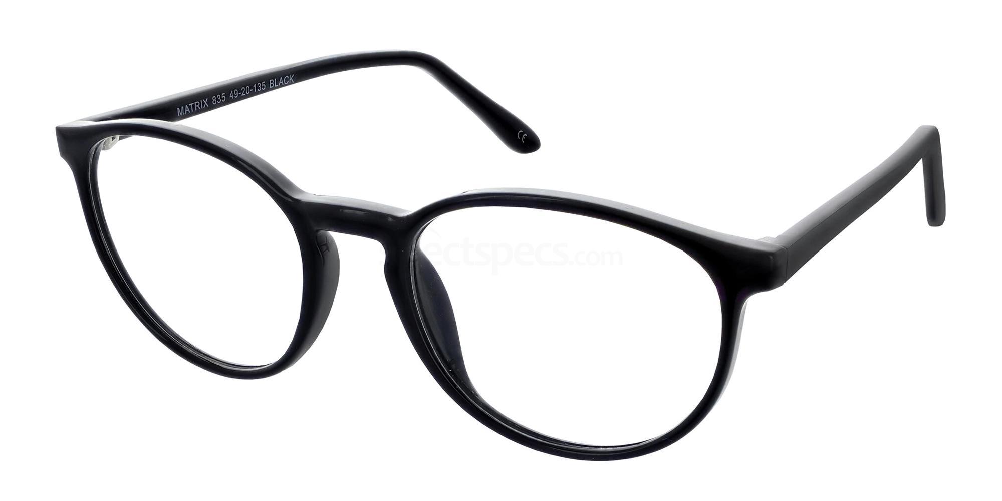 Black 835 Glasses, Matrix
