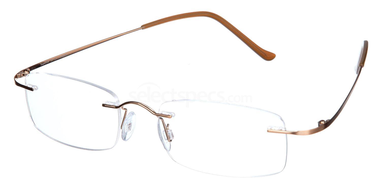 Brushed Gold SL07 Glasses, Superlite Eyewear