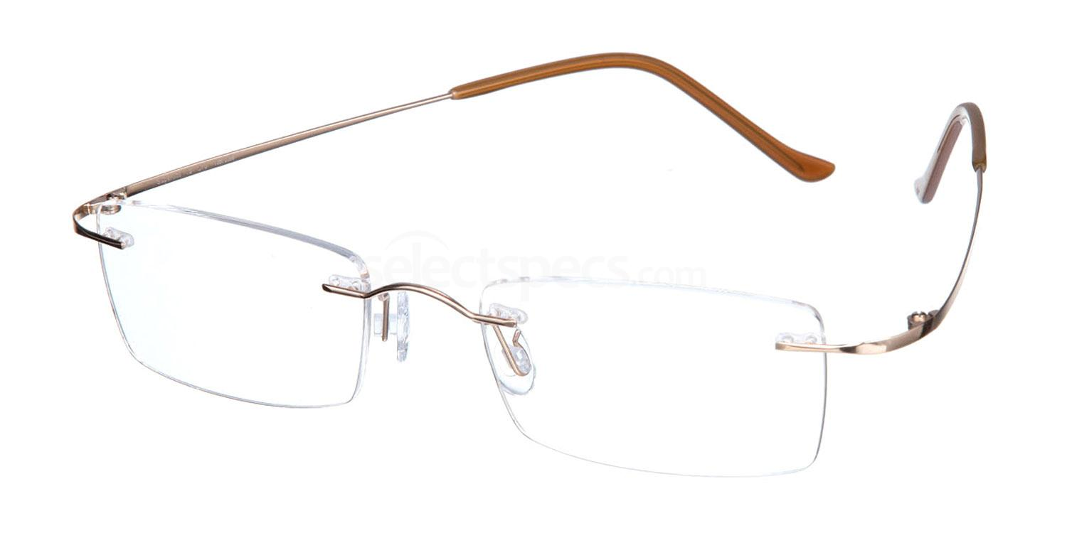 Shiny Gold SL19 Glasses, Superlite Eyewear