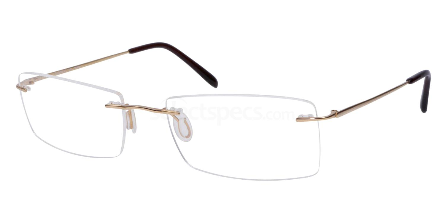 Shiny Gold SL50 Glasses, Superlite Eyewear