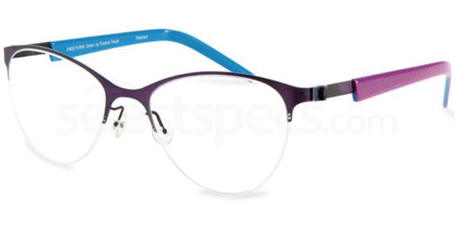 Purple Brush FFA 913 Glasses, Freeform Green By Thomas Trauth