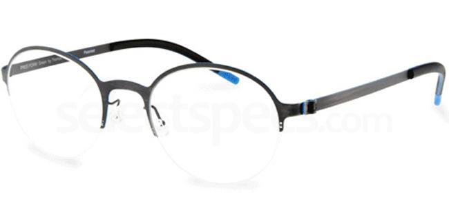 Gun Brush FFA 915 Glasses, Freeform Green By Thomas Trauth