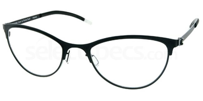Black Matte FFA 921 Glasses, Freeform Green By Thomas Trauth