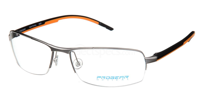 Silver / Black / Orange OPT-1109 Glasses, ProGear Optical
